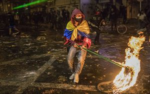 Pictures of the week: Streets on fire after man arrested over COVID-19 breach dies in Colombia