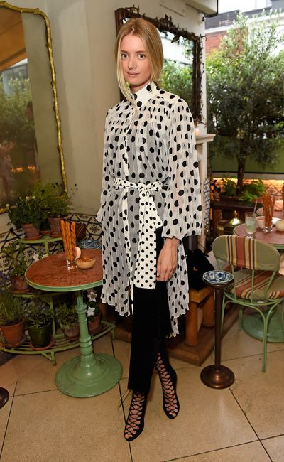 Rebecca Corbin Murray in Zimmermann, celebrating the launch of Zimmermann's London flagship store in Mayfair at the private members' club 5 Hertford St, London.