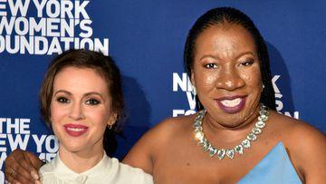 Alyssa Milano and Tarana Burke.