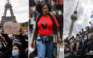 Protests support Floyd, Black Lives Matter on three continents