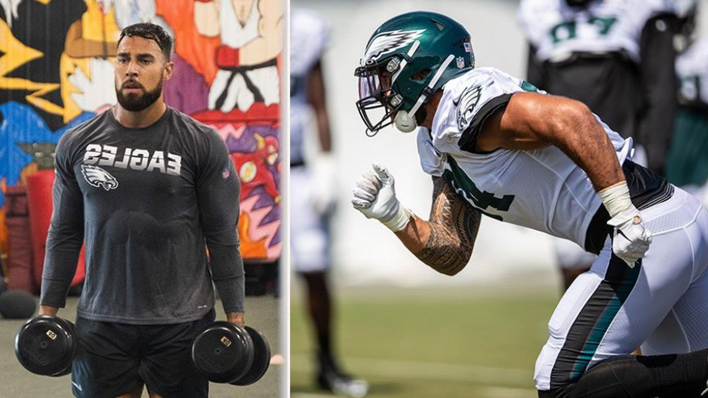How former plumber turned Aussie NFL rookie is winning over new Eagles teammates