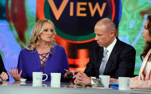 Avenatti, pictured with Stormy Daniels, was arrested on a domestic violence charge last month.