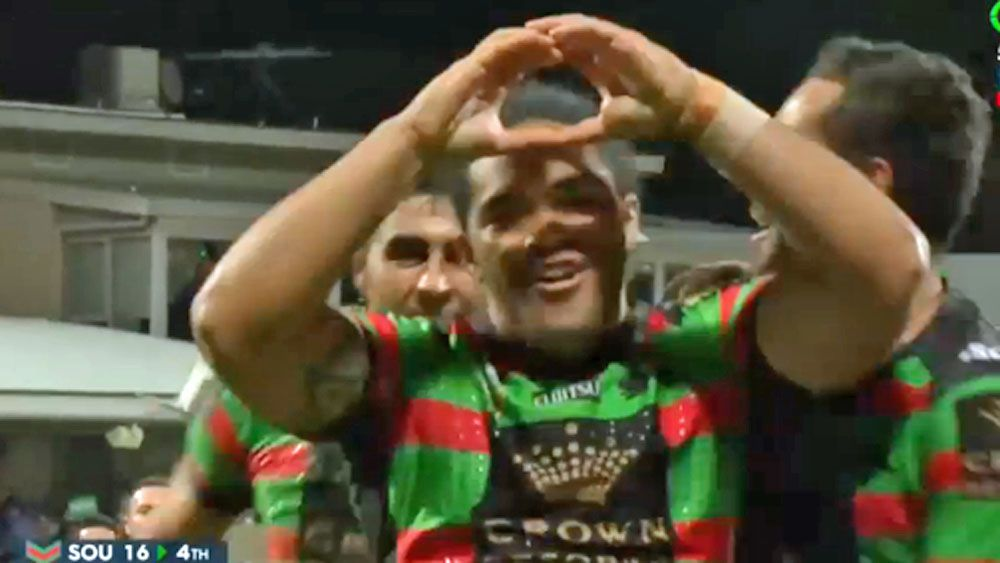 Rabbitohs rookie scores with his first touch