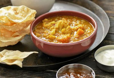 "Recipe: <a href=""http://kitchen.nine.com.au/2016/05/20/10/08/weight-watchers-pumpkin-and-cauliflower-dhal"" target=""_top"">Weight Watchers' pumpkin and cauliflower dhal</a>"