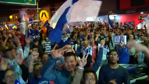 Police have praised crowds, saying people were well behaved. (9NEWS)