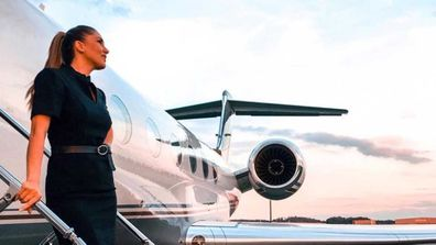 Private jet flight attendant Mary Kalymnou