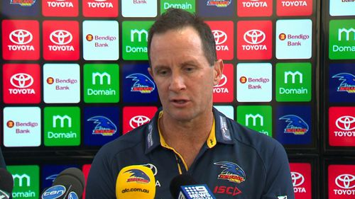 """Coach Don Pyke has admitted some of the camp's mind training sessions """"didn't hit the mark"""". Picture: 9NEWS"""