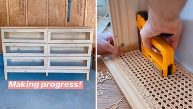 Clever furniture flip turns basic IKEA drawers into stunning rattan piece
