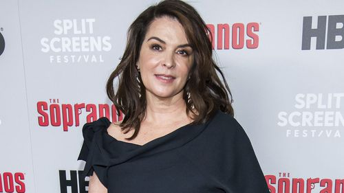 "FILE - In this Jan. 9, 2019, file photo, Annabella Sciorra attends HBO's ""The Sopranos"" 20th anniversary at the SVA Theatre in New York."