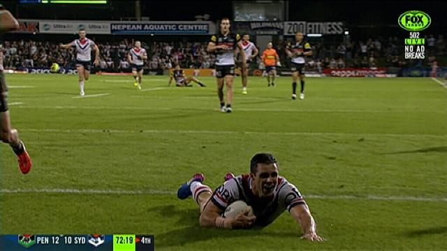 Roosters edge Panthers in gutsy NRL win