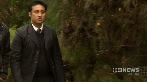 Niraj Dave, who was at the centre of the love triangle. (9NEWS)