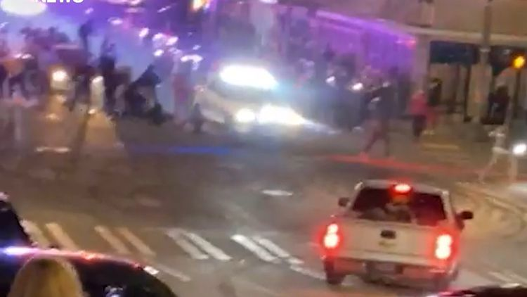 Tacoma police vehicle plows through crowd, officer placed on leave