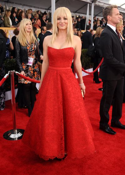 Kaley Cuoco attends the 19th Annual Screen Actors Guild Awards at The Shrine Auditorium on January 27, 2013