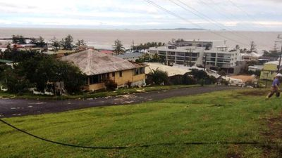Power lines are down at Yeppoon. (Supplied: QFES)