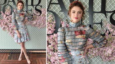 Model Montana Cox was a floral vision in Zimmerman. (AAP)