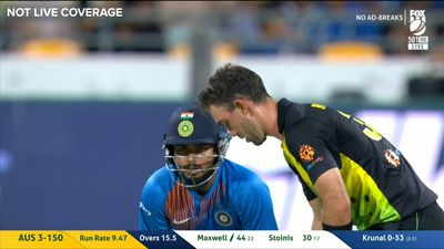 'It's hit the fox!': Glenn Maxwell cracks ball into hovering camera in monster innings as Australia win India T20