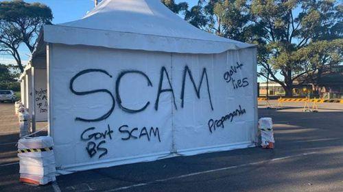 Heathcote COVID testing site vandalism