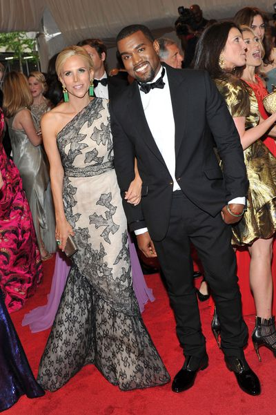 Odd Couple. Tory Burch with Kanye West at the Met Gala in 2011.