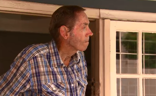 Allan Mason, 74, recieved hospital treatment after being bashed with a hammer. (9NEWS)