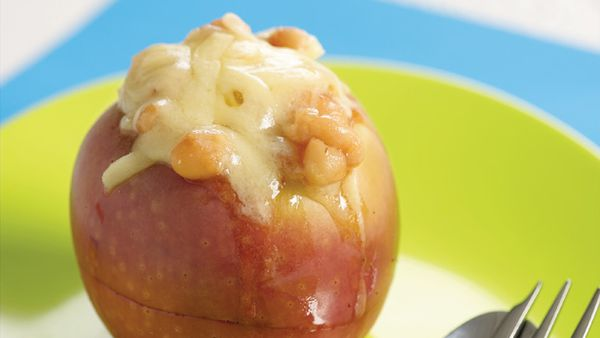 Beanz in baked applez