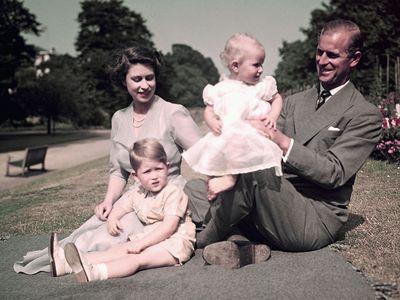 Royal family picnic, 1951