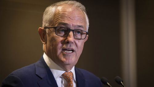 In a stopover in Perth, Mr Turnbull said he is a 'passionate devotee' of urban rail - a hint that the WA government's Metronet rail project may be given additional funds. Picture: AAP.