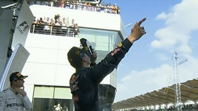 Daniel Ricciardo claims maiden win at Malaysian GP Red Bull's