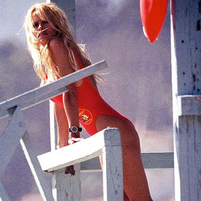 Pamela Anderson in Baywatch in 1990