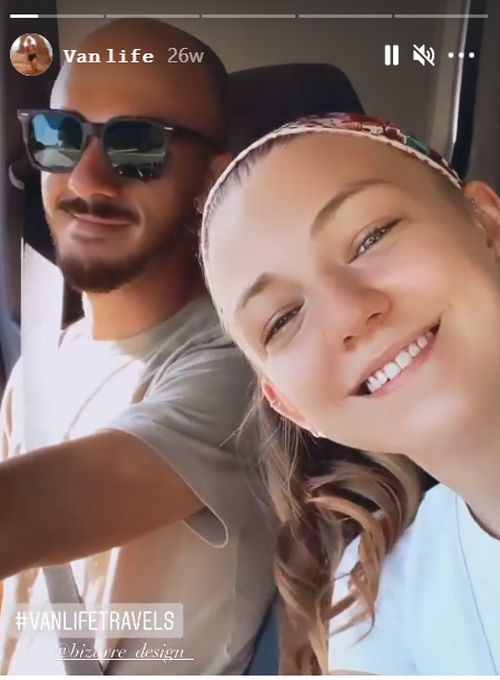A video clip Ms Petito posted on Instagram of the couple in their van.