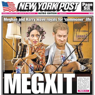 Prince Harry Meghan Markle New York Post front page