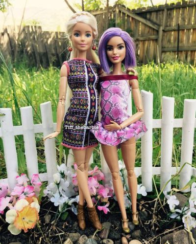 "Tiff has Barbie mates with their own Insta accounts - like <a href=""https://www.instagram.com/carolina_barbiedoll/"" target=""_blank"">@carolina_barbiedoll</a>"
