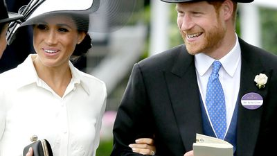 GALLERY: Giddy up! Duke and Duchess of Sussex all smiles at Ascot