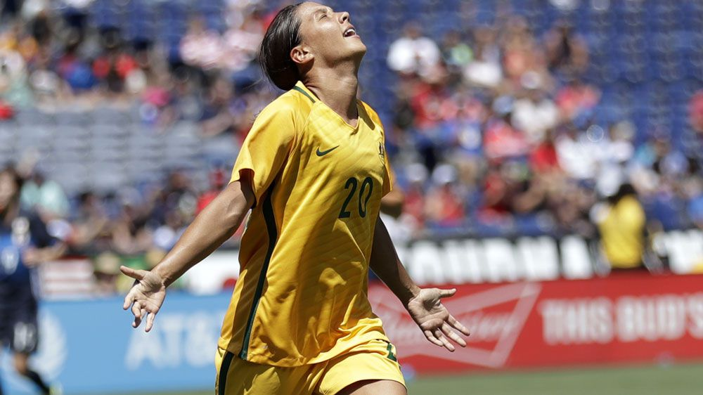 Matildas star Sam Kerr uneasy with company she's keeping after 'world's best' nomination