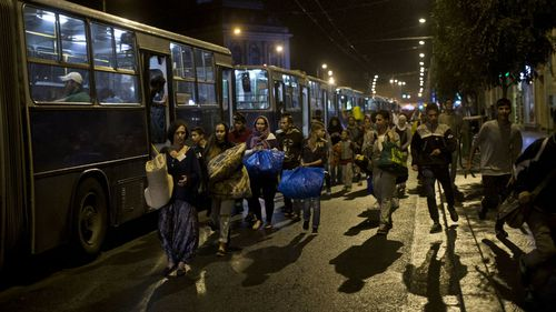 Austria and Germany have agreed to take in thousands of migrants who had been stranded in Hungary. (AAP)