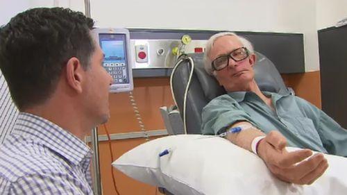 "Mr Dunn described the treatment as ""life-saving"". (9NEWS)"