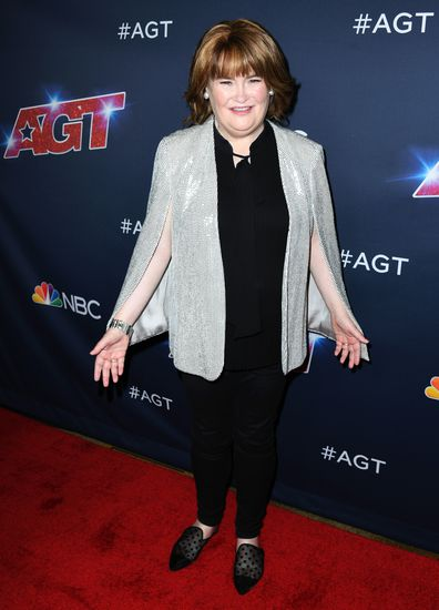"""Susan Boyle attends """"America's Got Talent"""" Season 14 Live Show Red Carpet at Dolby Theatre on August 20, 2019 in Hollywood, California."""