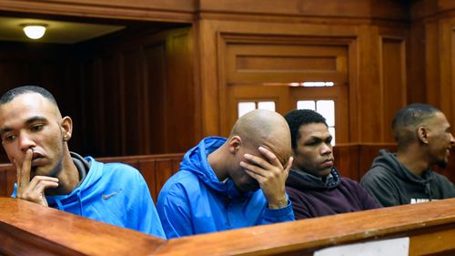 As the offenders were led from the court following their sentencing, they remained emotionless apart from Witbooi, who was seen shaking his head.