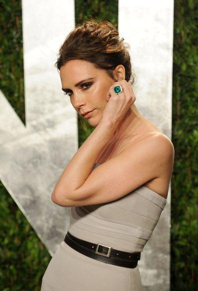 Victoria Beckham, emerald ring, engagement ring