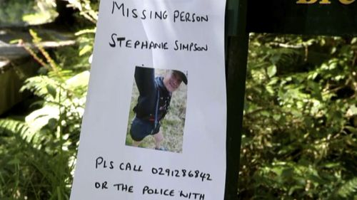 This Tuesday, Feb. 11, 2020, image made from video shows posters including a photo of British hiker Stephanie Simpson, left bottom, at Mount Aspiring National Park, New Zealand. Searchers found the body of Simpson on Friday, Feb. 14, 2020, almost a week after she went hiking in the national park.