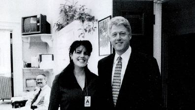 Monica Lewinsky meets Bill Clinton in the White House