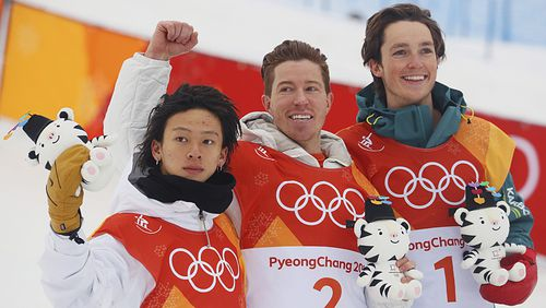 Ayumu Hirano and Shaun White won the silver and gold medals ahead of James. (AAP)