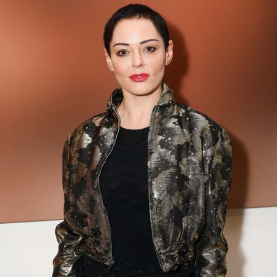 "Rose McGowan attends a private view of Joe Corre's new exhibition ""Ash From Chaos"" at Lazinc on April 19, 2018 in London, England."