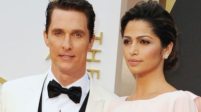 Best actor nominee Matthew McConaughey and wife Camila Alves give photographers their best Blue Steel.
