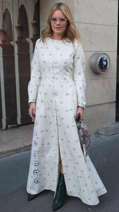 <p>Model Camille Rowe in Christian Dior.</p>