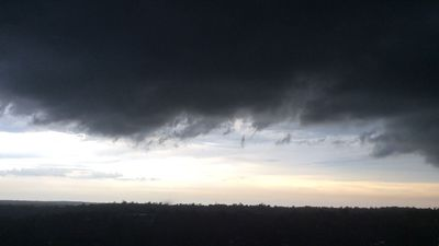 One reader took this photo in Hornsby before the rain came at 5.30pm. (Sandy Valentine-Munn)