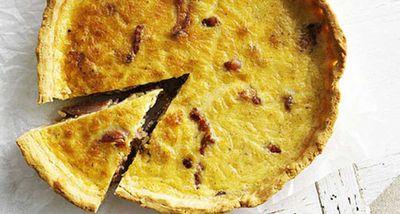 """Recipe:&nbsp;<a href=""""http://kitchen.nine.com.au/2016/05/05/16/10/glutenfree-quiche-lorraine"""" target=""""_top"""">Gluten-free quiche lorraine</a>"""