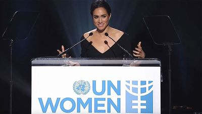 Meghan delivers 'proud feminist' speech at the UN, 2015