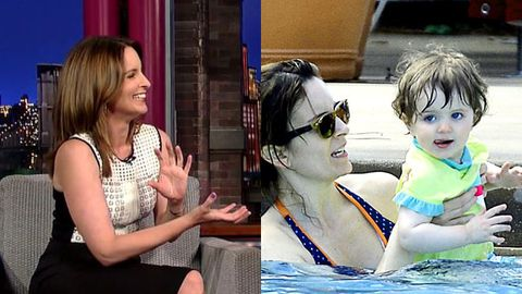 Tina Fey tell Letterman her toddler is a sociopath, 'She choked me!'