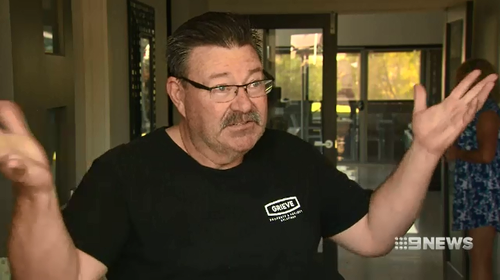 Shane Grieve was allegedly assaulted as he tried to stop the car thieves.