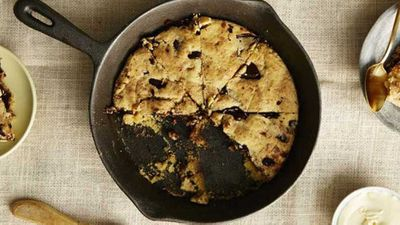 I Quit Sugar's <strong>Choc chip skillet cookie</strong>